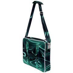 Biscay Green Black Swirls Cross Body Office Bag
