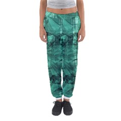 Biscay Green Black Textured Women s Jogger Sweatpants
