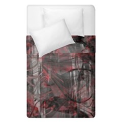 Red Black Abstract Texture Duvet Cover Double Side (single Size)
