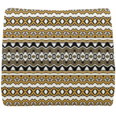 Boho Black Yellow Floral Print Seat Cushion