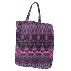 Boho Magenta Black Pattern Giant Grocery Tote