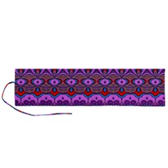 Boho Magenta Pattern Roll Up Canvas Pencil Holder (l)