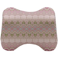 Boho Pastel Spring Floral Pink Head Support Cushion