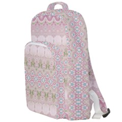 Boho Pastel Spring Floral Pink Double Compartment Backpack