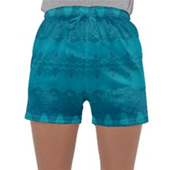 Boho Teal Pattern Sleepwear Shorts