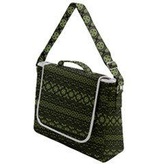 Boho Sage Green Black Box Up Messenger Bag by SpinnyChairDesigns