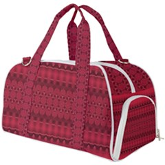 Crimson Red Pattern Burner Gym Duffel Bag