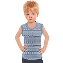 Boho Faded Blue Grey Kids  Sport Tank Top
