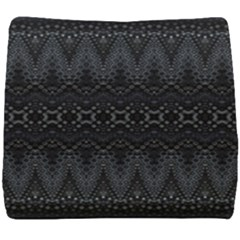 Boho Black And Silver Seat Cushion