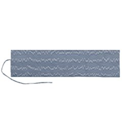 Boho Faded Blue Stripes Roll Up Canvas Pencil Holder (l)