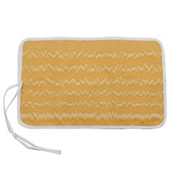 Boho Saffron Yellow Stripes Pen Storage Case (s)