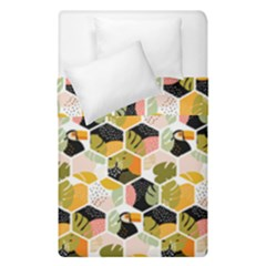 Hexagon Tropical Pattern Duvet Cover Double Side (single Size)