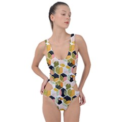 Hexagon Tropical Pattern Side Cut Out Swimsuit by designsbymallika