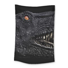 Trex Dinosaur Head Dark Poster Small Tapestry