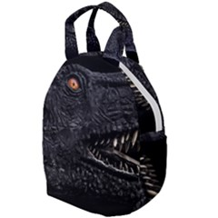 Trex Dinosaur Head Dark Poster Travel Backpacks