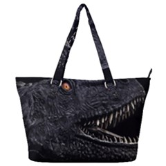 Trex Dinosaur Head Dark Poster Full Print Shoulder Bag