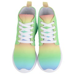 Pastel Rainbow Ombre Women s Lightweight High Top Sneakers by SpinnyChairDesigns