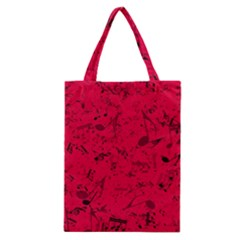 Scarlet Red Music Notes Classic Tote Bag