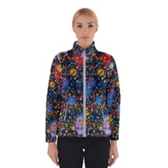 Abstract Paint Splatters Winter Jacket by SpinnyChairDesigns