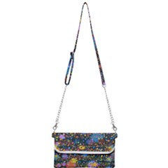 Abstract Paint Splatters Mini Crossbody Handbag by SpinnyChairDesigns