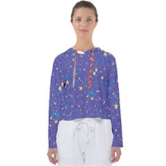 Starry Night Purple Women s Slouchy Sweat