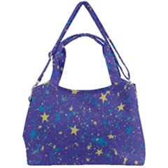 Starry Night Purple Double Compartment Shoulder Bag