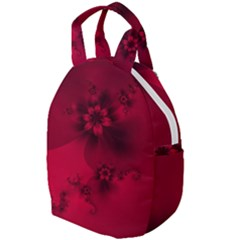Scarlet Red Floral Print Travel Backpacks by SpinnyChairDesigns