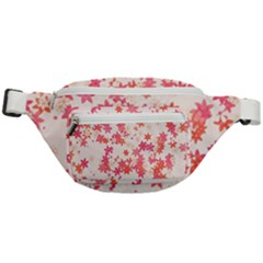 Vermilion And Coral Floral Print Fanny Pack