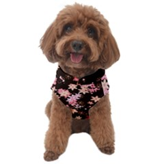 Pink Lilies On Black Dog Sweater by SpinnyChairDesigns