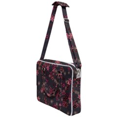 Pink Wine Floral Print Cross Body Office Bag