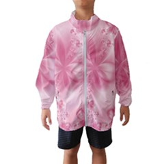 Blush Pink Floral Print Kids  Windbreaker by SpinnyChairDesigns