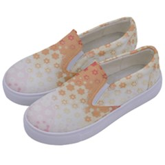 Abstract Floral Print Kids  Canvas Slip Ons by SpinnyChairDesigns