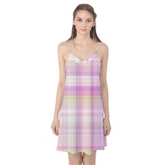 Pink Madras Plaid Camis Nightgown