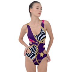 Chain Pattern  Side Cut Out Swimsuit by designsbymallika