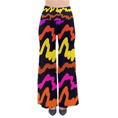 Multicolored Scribble Abstract Pattern So Vintage Palazzo Pants by dflcprintsclothing