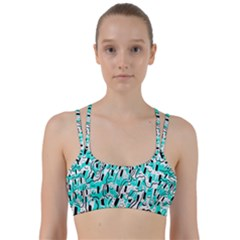 Doodle Art Minimal Drawing Pen Line Them Up Sports Bra by HermanTelo