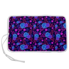 Backgroung Rose Purple Wallpaper Pen Storage Case (m)