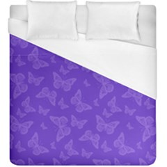 Violet Purple Butterfly Print Duvet Cover (king Size)
