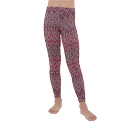 Boho Rustic Pink Kids  Lightweight Velour Leggings