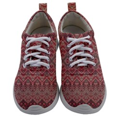 Boho Rustic Pink Mens Athletic Shoes by SpinnyChairDesigns
