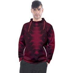 Black Red Tie Dye Pattern Men s Pullover Hoodie