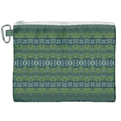 Boho Forest Green  Canvas Cosmetic Bag (xxl)