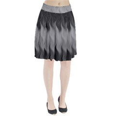 Abstract Black Grey Pleated Skirt by SpinnyChairDesigns