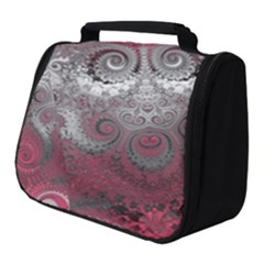 Black Pink Spirals And Swirls Full Print Travel Pouch (small)