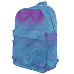 Purple Blue Swirls And Spirals Classic Backpack