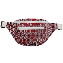 Red Black Checkered Fanny Pack