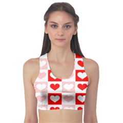 Hearts  Sports Bra by Sobalvarro