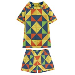 Africa  Kids  Swim Tee And Shorts Set by Sobalvarro