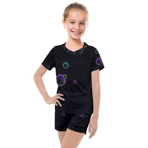 Bubble In Dark Kids  Mesh Tee And Shorts Set by Sabelacarlos