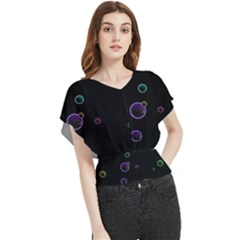 Bubble In Dark Butterfly Chiffon Blouse